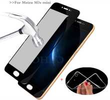 MPCQC 2.5D 9H For Meizu M3s 16/32GB glass tempered full cowl tempered glass For Meizu M3s m3 mini display protector glass Movie