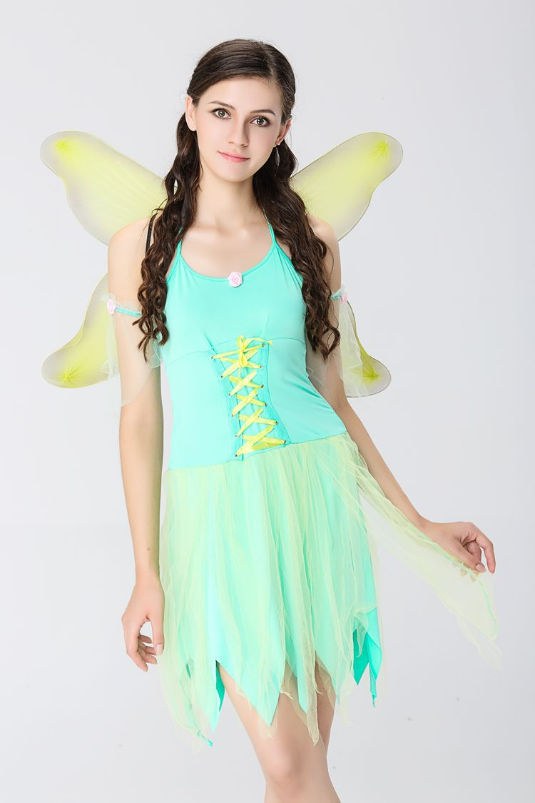 Angel cosplay lovelive dress erotic ELF Dress cartoon animation cosplay costumes Green forest costume Halloween play dress