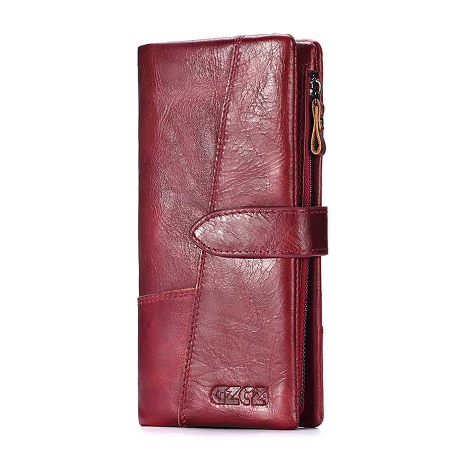 Genuine Real Leather Women Wallet Phone Cases For 5.5inch Cover for iPhone for Samsung For Money Women'S Purse Clutch Handy