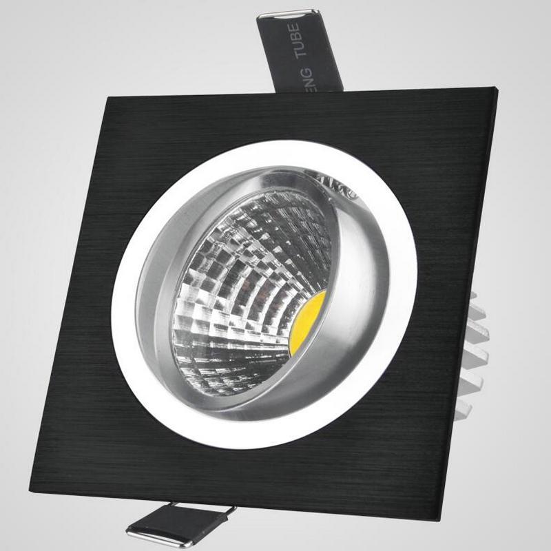 5W 7W 10W COB zatemnitvene LED luči navzdol kvadratne steklene luči - Notranja razsvetljava - Fotografija 1