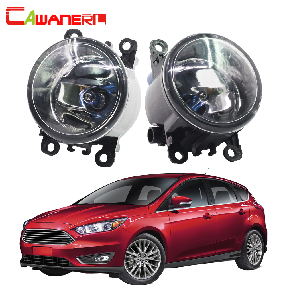 Cawanerl 2 Pieces H11 100W Car Styling Halogen Fog Light Daytime Running Lamp DRL 12V For Ford Focus MK2 MK3 2004-2015 cawanerl 2 x car led daytime running light drl fog lamp 12v dc car styling high quality for ford ranger 2012 2015