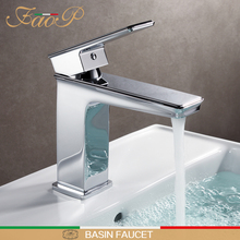 FAOP Basin faucets chrome bathroom sink basin mixer tap mixer waterfall faucet basin mixer bathroom sink faucet tapware bathroom faucet advanced modern glass waterfall contemporary chrome brass bathroom basin faucets sink mixer waterfall tap