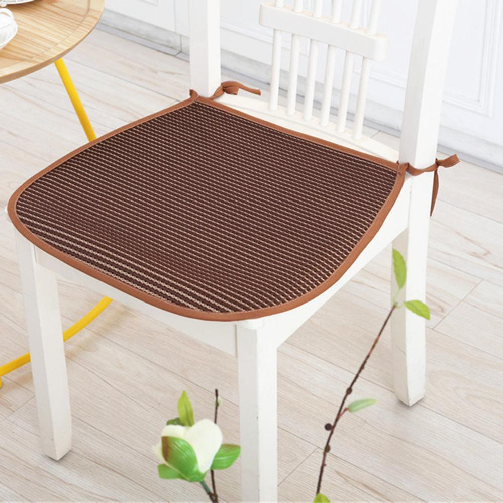3D Ice Silk Summer Breathable Cool Chair Pad for Office Chair Cushion Polyester Fiber Tatami Sofa Mat 42x44cm