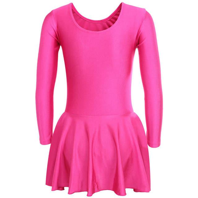 c4c9c5e9d Online Shop 2018 New Fashion Little Girl Gymnastics Dance Dress 2 ...