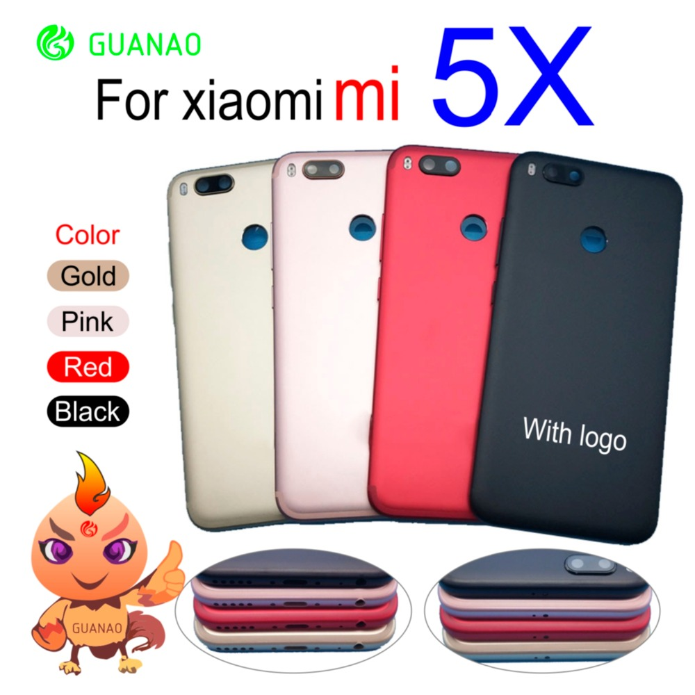 Back <font><b>Battery</b></font> <font><b>Cover</b></font> For <font><b>Xiaomi</b></font> <font><b>Mi</b></font> A1 Rear Door Case Chassis For MiA1 <font><b>Battery</b></font> <font><b>Cover</b></font> <font><b>5X</b></font> Back Housing With Androidone Replace mi5x image
