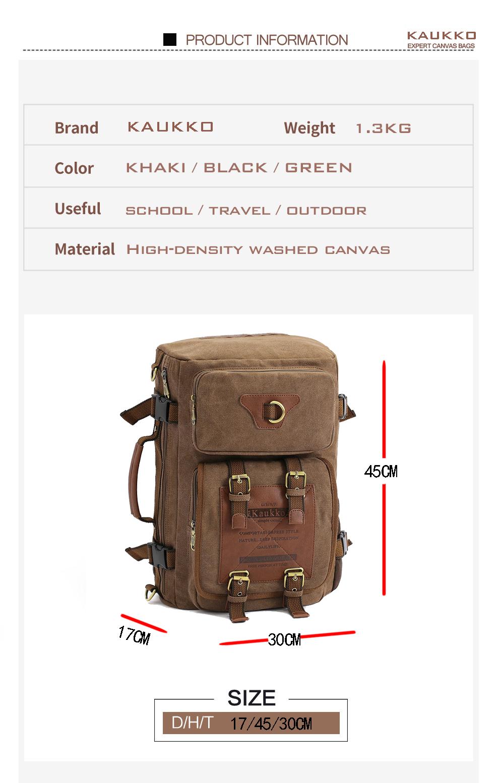 Marke Stilvolle Reise New vintage rucksack canvas backpack leisure travel schoolbag unisex laptop backpacks men backpack male 2