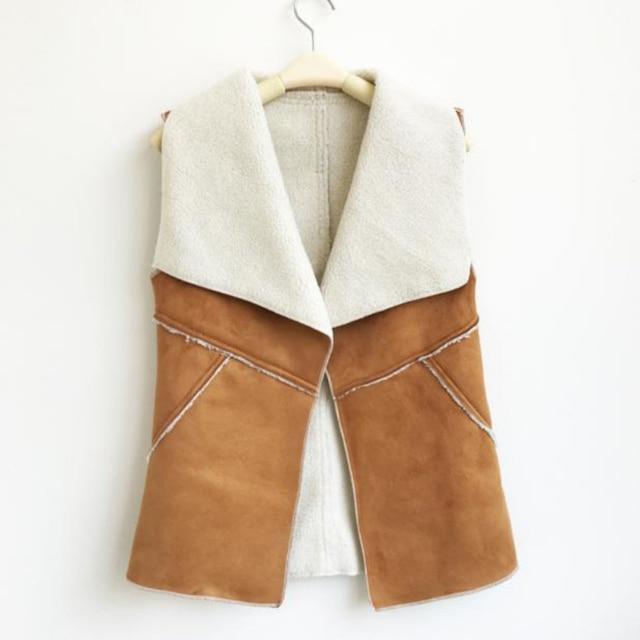 Autumn Winter Fleece Vest Women Waistcoat Ladies Sleeveless Coat colete feminino de inverno Amazing A25