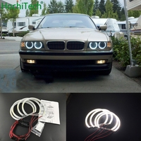 HochiTech Ultra bright White Halo Light car smd LED Angel Eyes Halo ring Kit Day Light for BMW 7 Series E38 1994 01 car styling