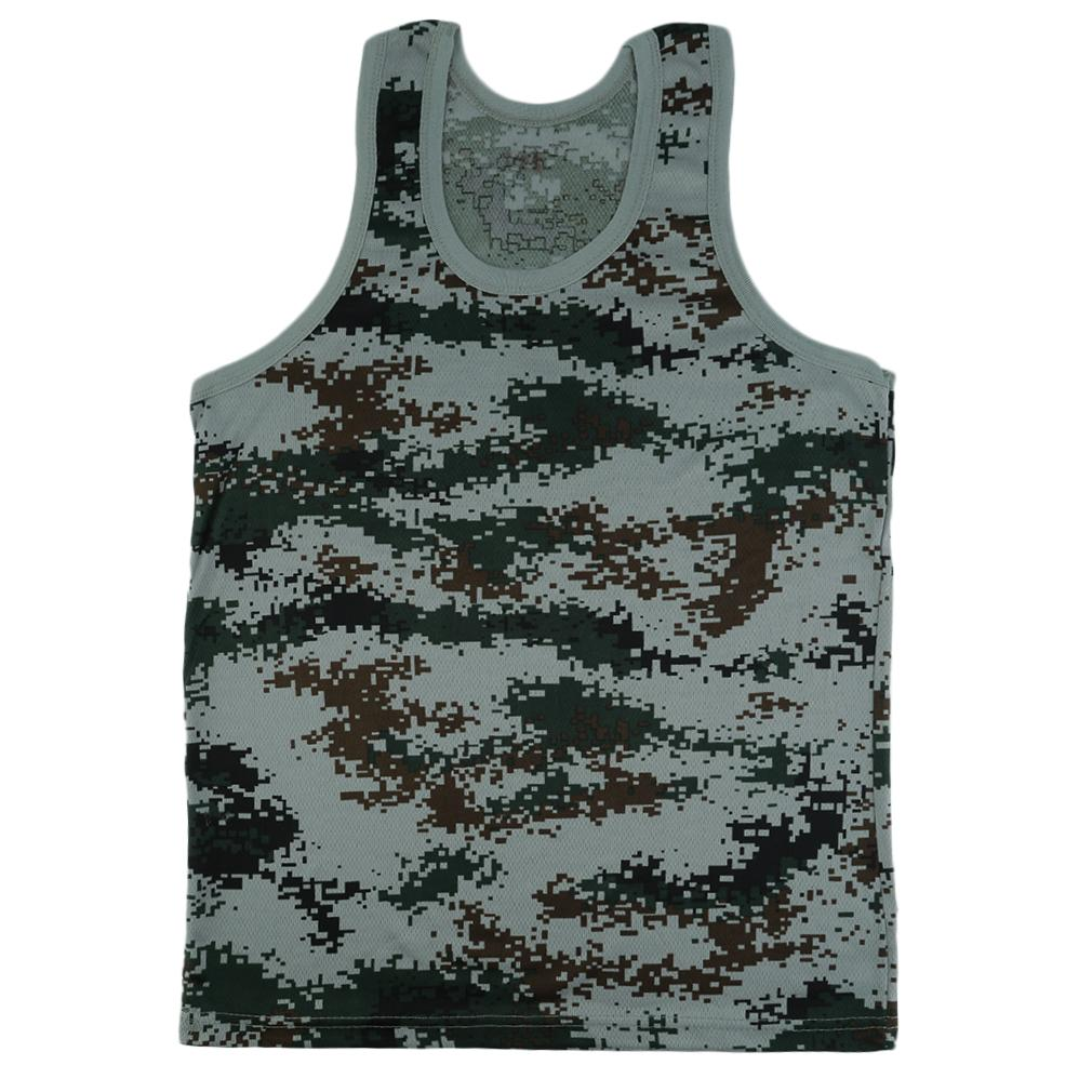 Fashion Military Style Men Vest Camouflage   Tank     Top   Tight Skinny Military Male Clothes Military Style   Tank     Top