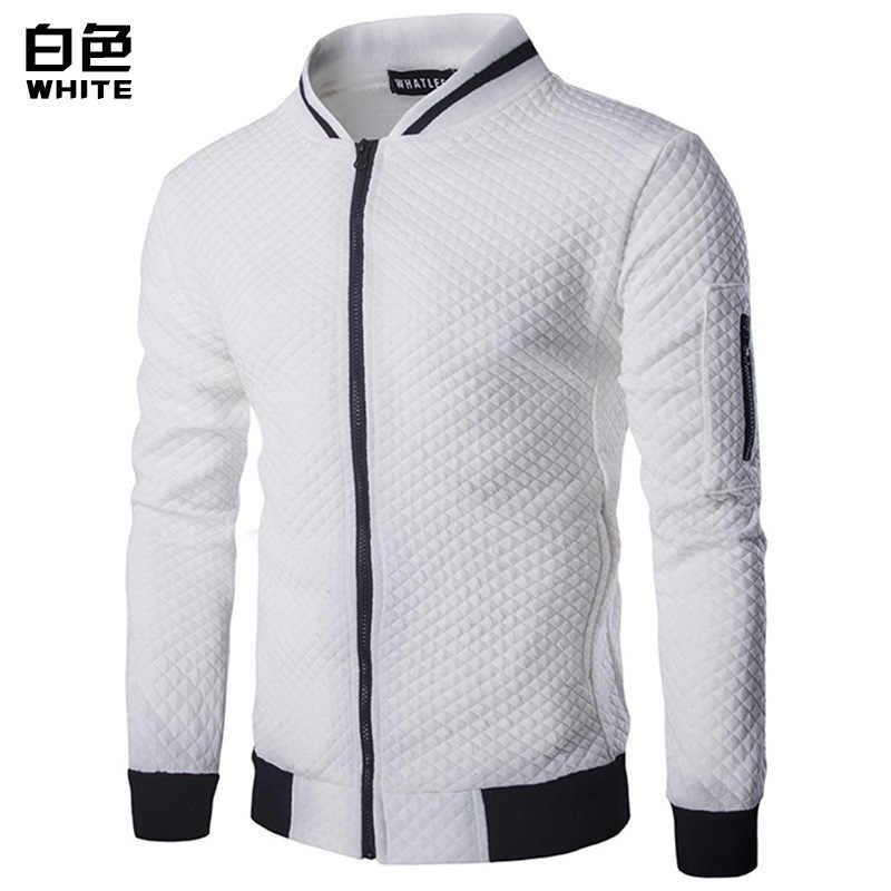 Wino czerwone Bomber Jacket Men 2017 Brand New lekki Zip Up kurtka baseballowa moda diament Plaid Argyle kurtka varsity mężczyźni/chłopiec