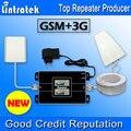 Nueva lintratek pantalla lcd 2g 3g gsm 900 mhz 2100 mhz dual band Teléfonos celulares Booster GSM 900 2100 UMTS Repetidor de Señal de Teléfono Móvil