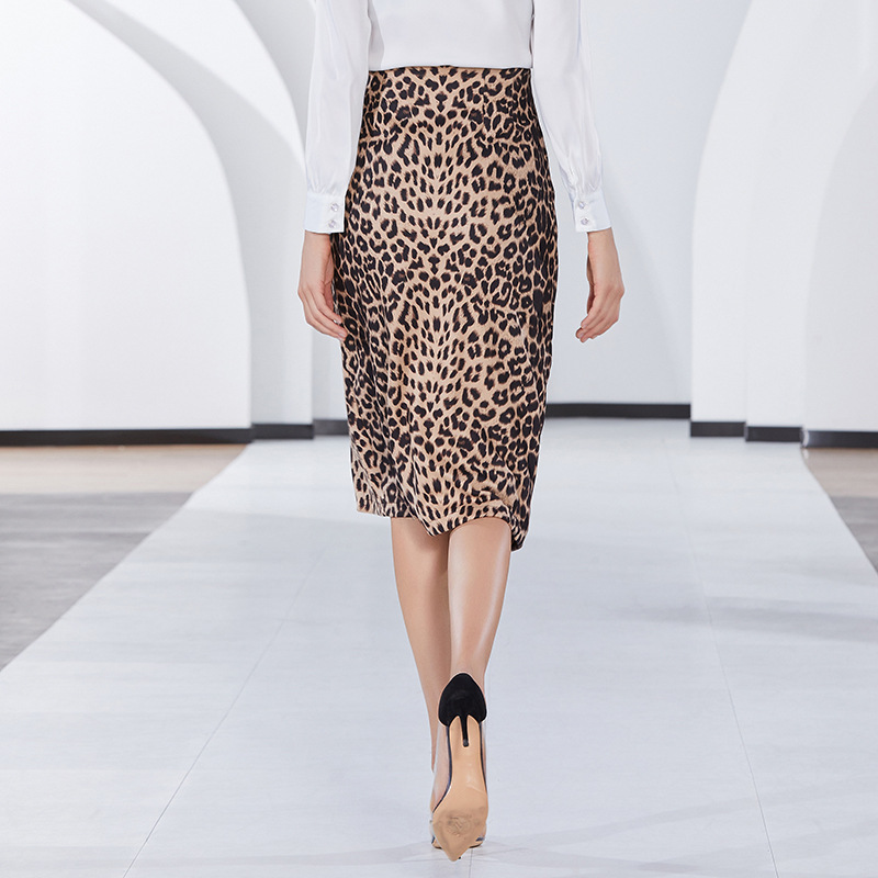 1cc6e7d664 Slim Sexy Frontal Envío Mujeres xl La 2019 Split S Moda De Falda Nuevo  Faldas Primavera Impresión Mediados Leopardo Señoras ...