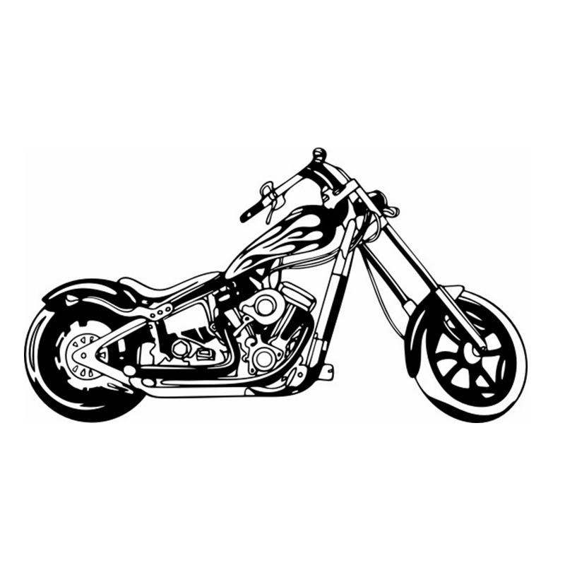 Heavy Motorcycle Sticker Vehicle Decal Classic Punk Posters Vinyl Wall Decals Autobike P ...