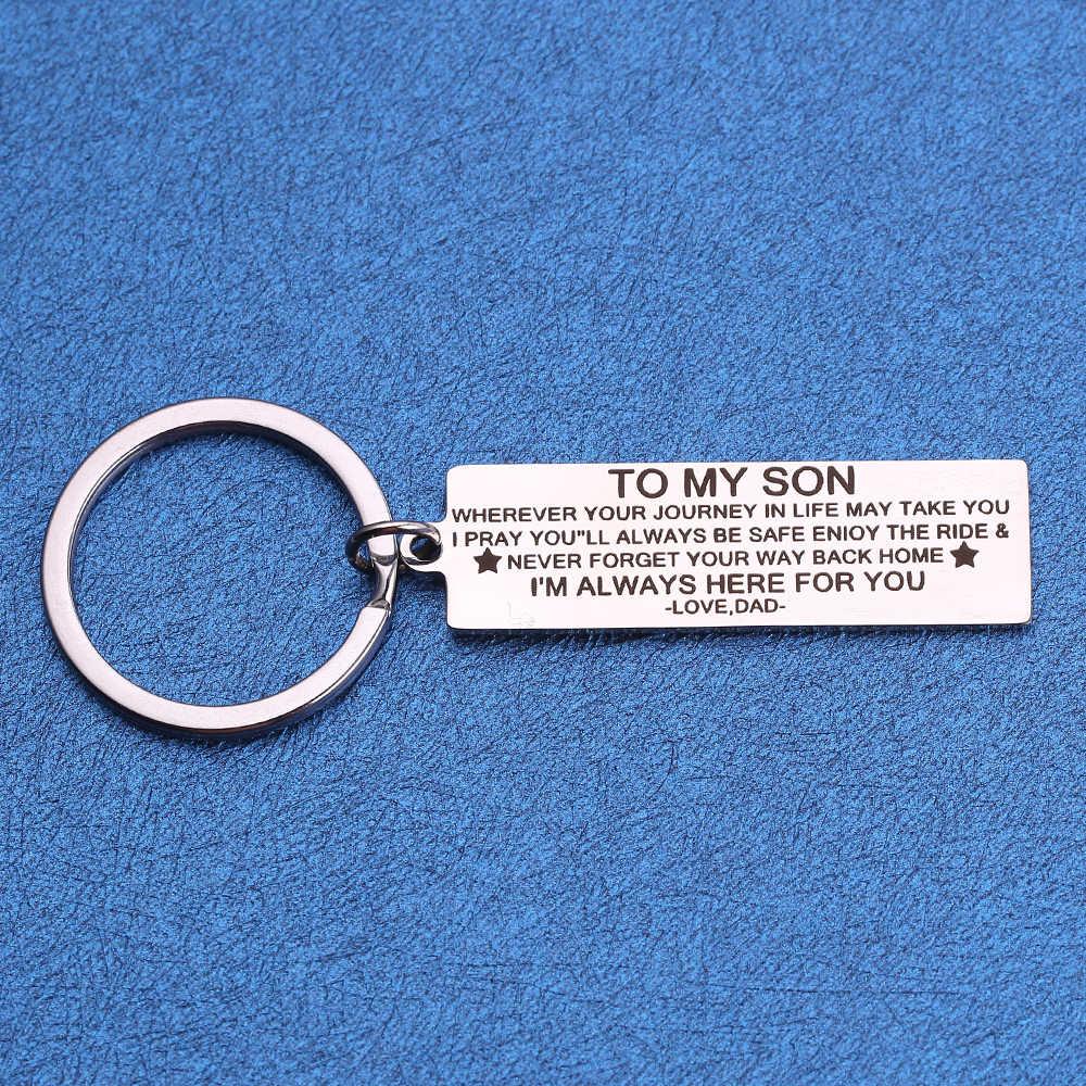 Custom 48*15mm พวงกุญแจแกะสลักของฉันแฟชั่นเครื่องประดับสำหรับครอบครัวพ่อแม่ของขวัญสแตนเลสพวงกุญแจผู้หญิง trinket
