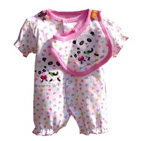 Cute Kids Clothes Set For A Newborn Coveralls Baby Romper Bib Conjuntos Summer Toddler Girl Clothing