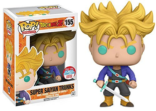 ФОТО 2016 NYCC Exclusive Funko pop Dragon Ball Z - Super Saiyan Trunks Limited Edition Vinyl Action Figure Collectible Model Toy