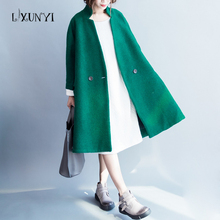 2017 New Arrival Winter Wool Woolen Jacket Coat Outerwear Thickening Warm Overcoat Double-breasted Plus Size Loose Cashmere Tops(China)