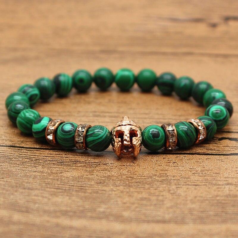 HOT Natural Stone Man-made Malachite Bracelets Opal Elastic Rope Chain Friendship Bracelets For Women And Men Jewelry bracelet