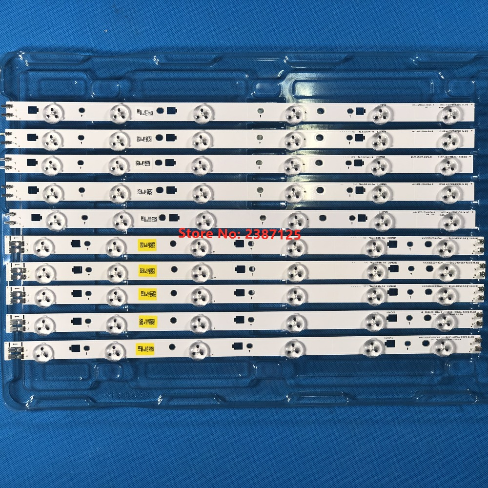 10Pieces LED Backlight Strip For 40-3535LED-60EA-R 40-3535LED-60EA-L UE40EH5300 CY-DE400BGSV1V UE40EH5000 UA40EH5000 BN96-24090A