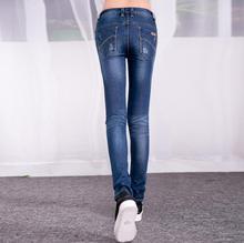 Оптовая Японская версия отличное качество хлопка карандаш брюки ноги Поднять Хип Джинсы среднего талии 2017 новых женщин джинсы w782