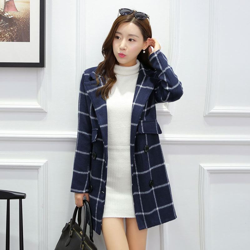 Nice Autumn Coat double breasted Trench Coat And Long Sections Trench Coat For Women font b