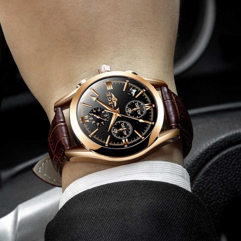 2020 Luik Horloge Mannen Sport Quartz Mode Lederen Klok Heren Horloges Top Brand Luxe Waterdicht Business Watch Relogio Masculino
