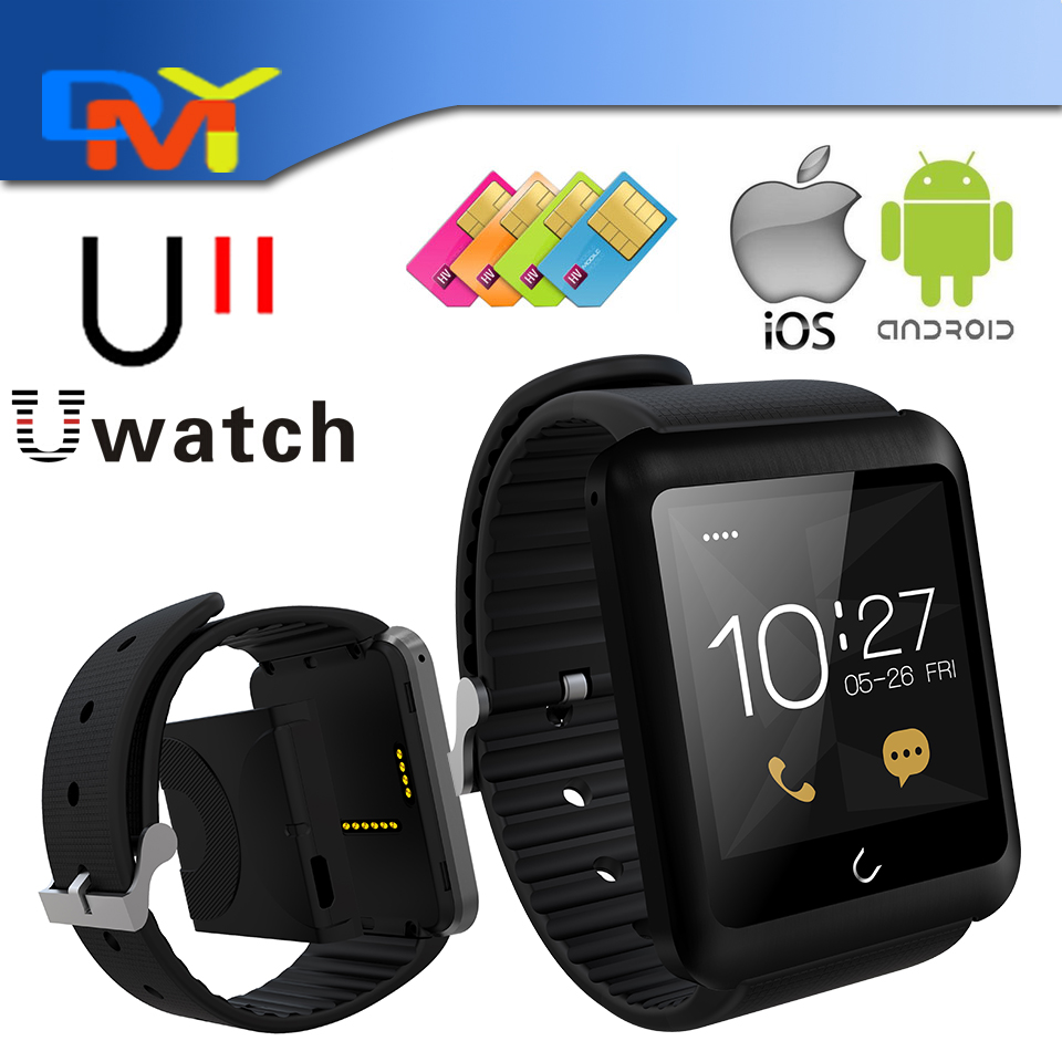 2015 Uwatch U11 Smart Watch Phone for iPhone Android font b Smartwatch b font Sim Card