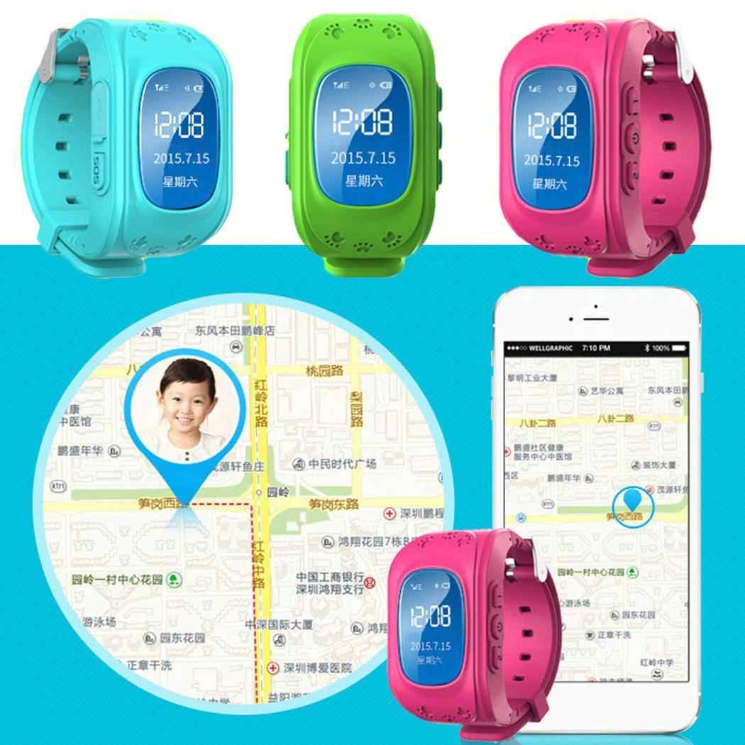 Anti Lost Q50 LED Child LBS Smrat Tracker SOS Smart Monitoring Positioning Phone Kids LBS Baby Watch Can Two-way conversation