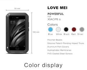 Image 5 - TÌNH YÊU MEI mi6 Kim Loại Bảo Vệ Armor Trường Hợp trên cho Xiaomi mi 6 mi6 Glass Bìa Fundas Xiaomi mi6 Điện Thoại Chống Sốc Trường Hợp Nam Nữ