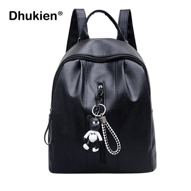 12296c5126d5 Vintage Women Backpack Female Pu Leather School Backpacks for Girls Bag Pack  Fashion Small Bolsa Feminina Escolar