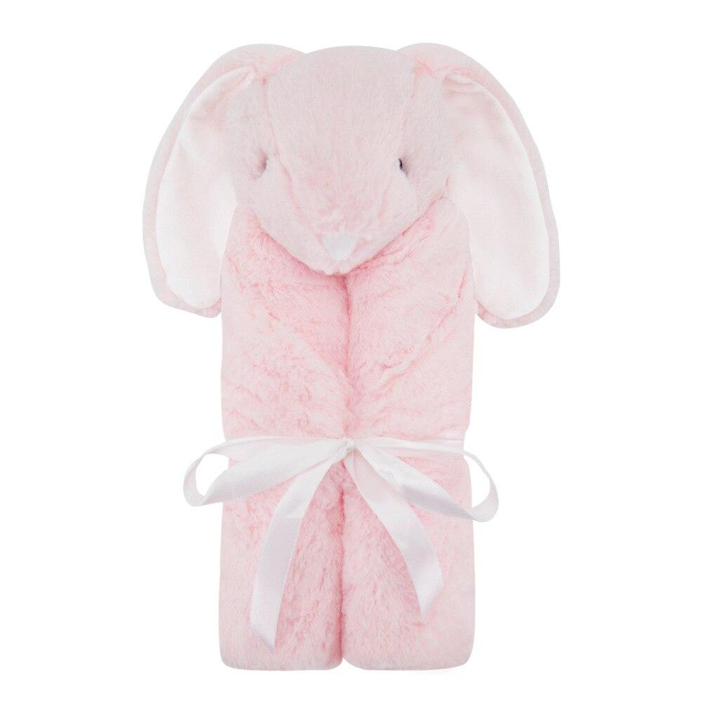 Младенческая обертка детское одеяло фланелевый животный узор 76*76 см зимний подарок реквизит для фотосъемки пеленание многоцветный детское одеяло - Цвет: pink rabbit
