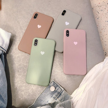 Lover Heart Solid Color Silicone Couples Cases For iphone XR X XS Max 6 6S 7 8 Plus Candy Soft Simple Fashion Phone Case