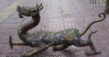 25 «Народная Китай Фэншуй Медь Перегородчатой Auspricious Зодиак Год Дракона Статуя