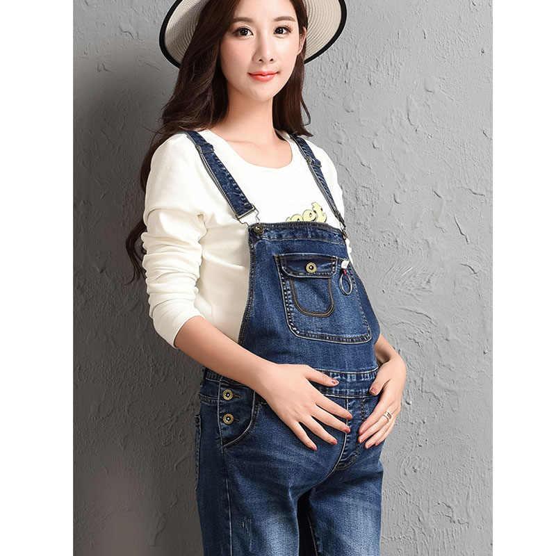 0723e3f1f6050 ... Denim Jeans Maternity Overalls Straps Pants For Pregnant Women Braced Jumpsuits  Pregnancy Suspenders Maternity Uniforms Rompers ...