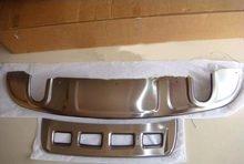 front and rear bumper skid protector guard plate For Audi Q5 2008 2009 2010 2011 2012