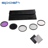 SPASH Circular UV Filter CPL FLD ND2 ND4 ND8 Color Lens Filter Kit Aluminum Lens Frame