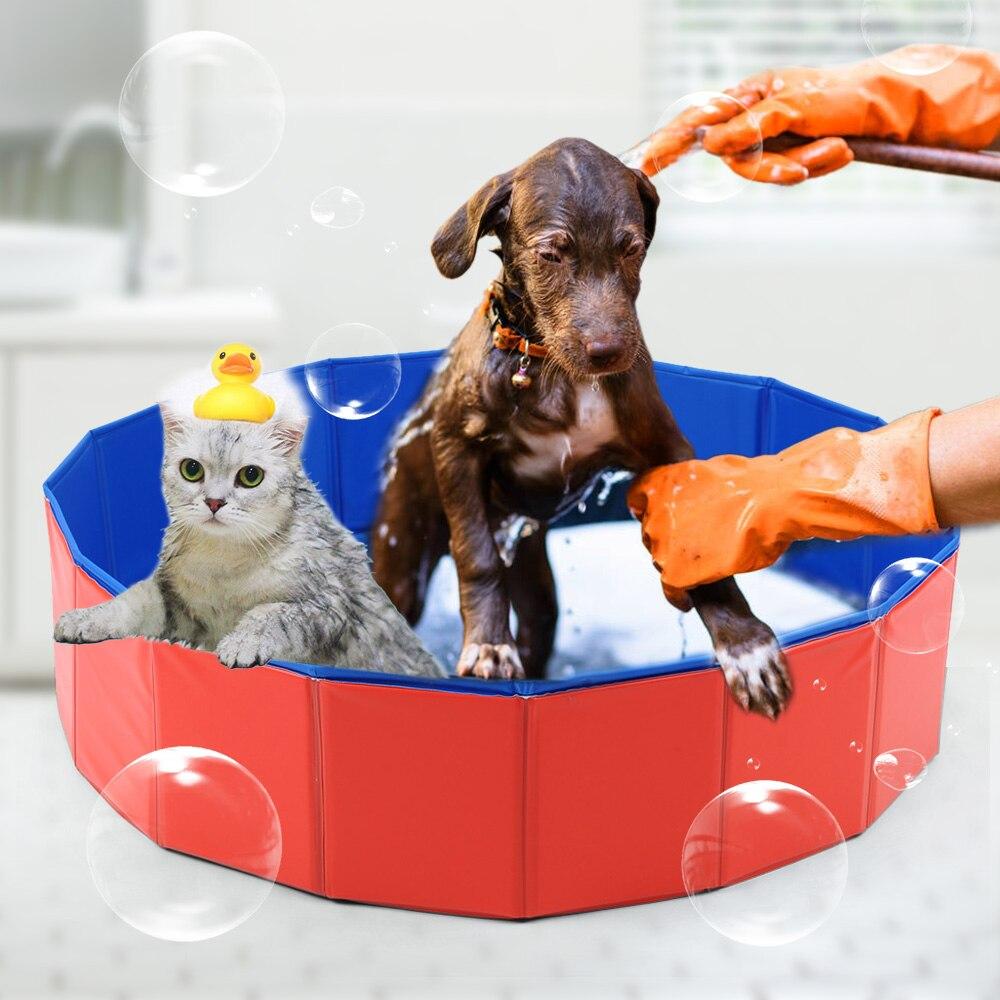Piscine pliable pour chien piscine pour chien pliable pour animaux de compagnie jouant étang de lavage pour chat grande piscine d'été pour chien