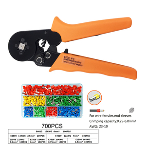 Image 4 - Обжимные плоскогубцы для проволочных наконечников, наконечники 0,25 мм2 23 10AWG электрик мини ручной круглый носовой инструмент клеммы