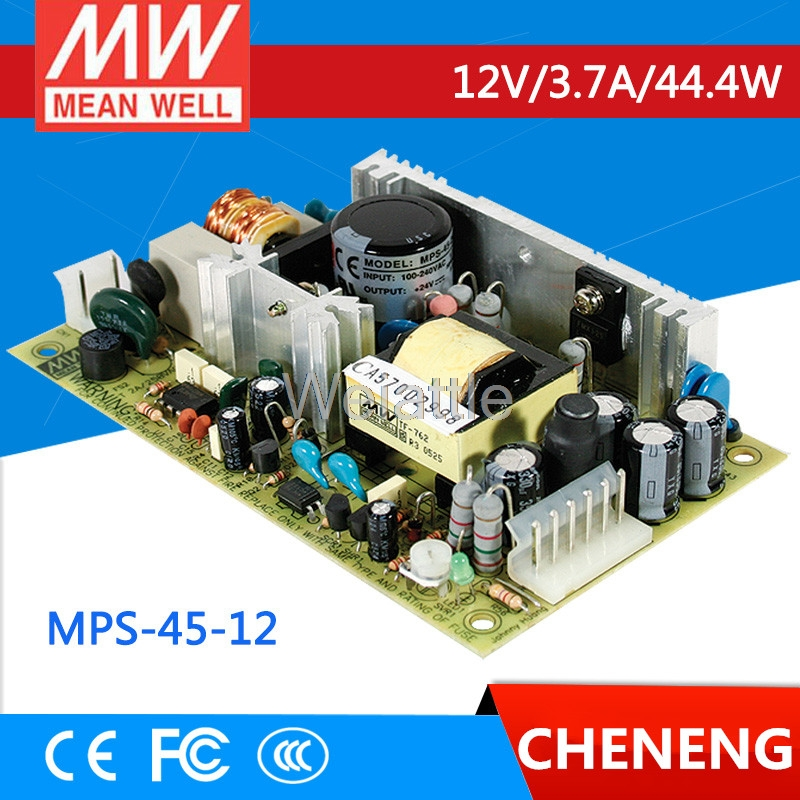 цена на MEAN WELL original MPS-45-12 12V 3.7A meanwell MPS-45 12V 44.4W Single Output Medical Type