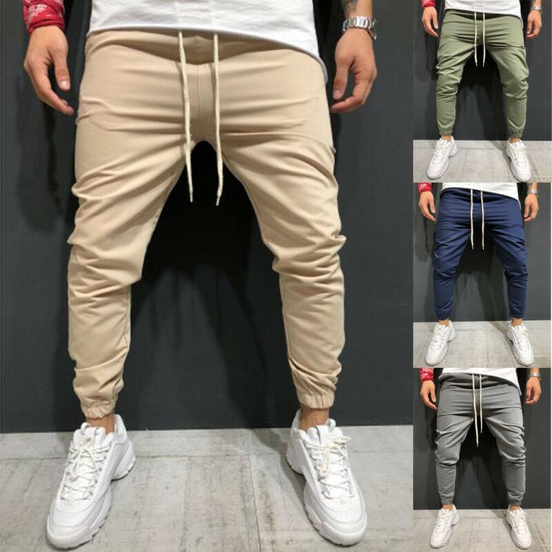 UK Men Long Casual Sport Pants Slim Fit Trousers Running Joggers Gym Sweatpants(China)