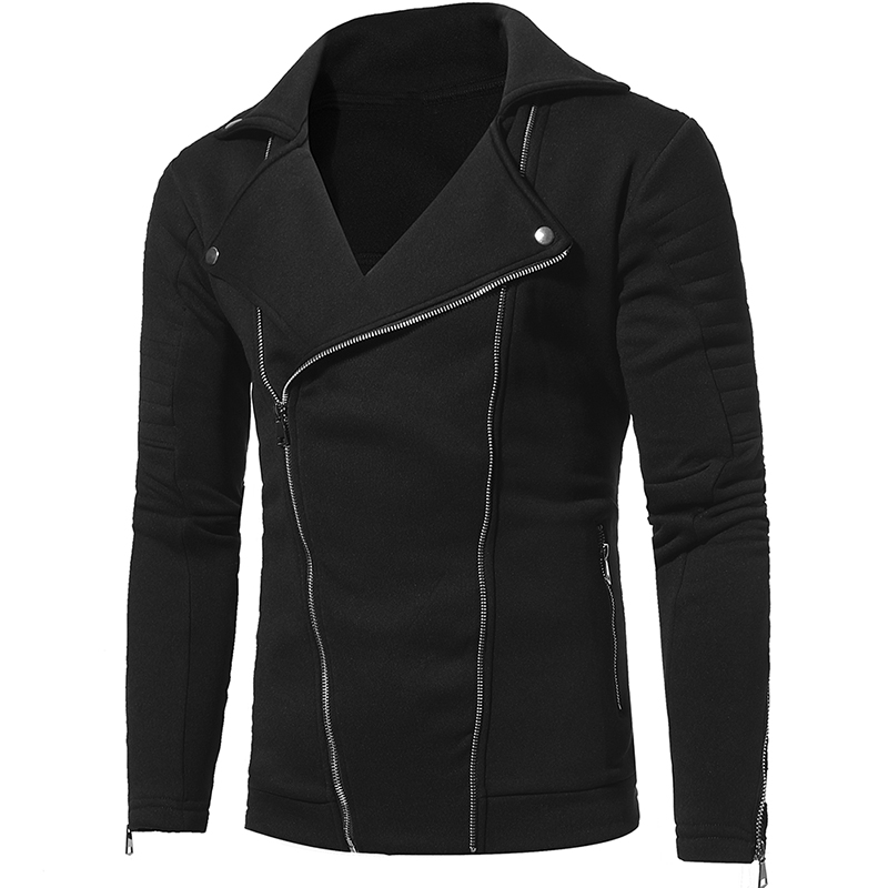 Brand 2018 Thick Personality Double Pull Zipper Cardigan Men Fashion Tracksuit Male Sweatshirt Hoody Mens Purpose Tour