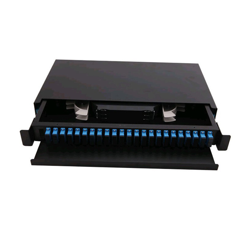 19 inch 24 core Pull type optical fiber distribution frame SC port Rack Mounted Indoor fiber patch panel19 inch 24 core Pull type optical fiber distribution frame SC port Rack Mounted Indoor fiber patch panel
