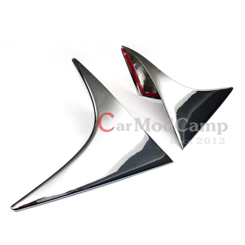 Chrome ABS Rear Spoiler Wing Rear Side Triangle Corner Cover Trim For Mazda CX-5 CX5 2012-2016 Car Accessories Styling! car auto accessories rear trunk molding lid cover trim rear trunk trim for nissan sunny versa 2011 abs chrome 1pc per set