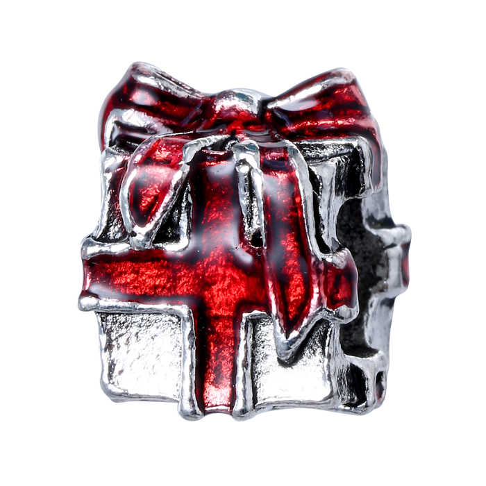 1PC Making srebrne europejskie wisiorki koraliki Fit świąteczna bransoletka tworzenia biżuterii tybetański srebrny kryształowy spacer koraliki