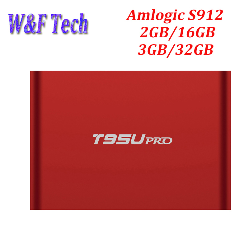 5pcs/lot Amlogic S912 tv box Octa Core H.265 Android 7.1 2.4G + 5.8G Dual WiFi Bluetooth 4.0 2G RAM 16G ROM T95U Android box телеприставка ubox r89 tv box 89 android rk3288 2g 16g t764 gpu bluetooth 4 0 xbmc 2 4 g 5 g wifi h 265 r89 android tv box