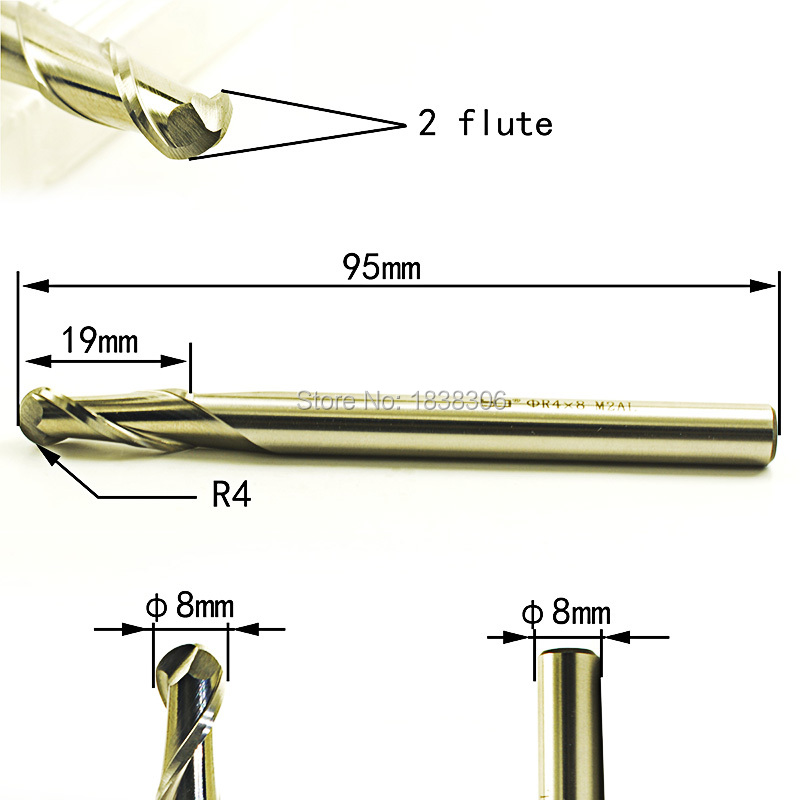 6mm 2 Flute Single End Uncoated Carbide End Mill USA 19mm Length of Cut