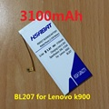 3100 mah batería del teléfono móvil para lenovo k900 bl207