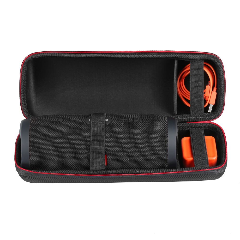 Newest EVA PU Protective Case For JBL Charge3 Charge 3 Carry Pouch Bag Cover Case Bluetooth Speaker Extra Space For Plug&Cables