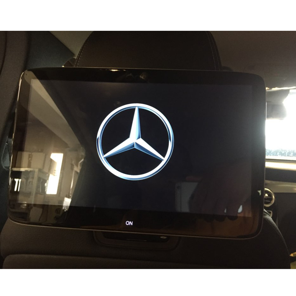 2019 Nouveau Dernières Android 7.1 OS Voiture TV Écran Appui-Tête DVD Moniteur Lecteur Dédié Pour Mercedes Système de Divertissement de Siège Arrière