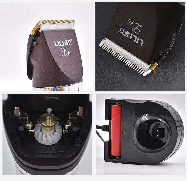 2018 nouveauté rechargeable professionnel tondeuses à cheveux Titianium Cutter Lithium batterie tondeuse 100-240 V Lcd affichage - 2